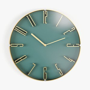 Wall clock KARE Minimal 3D