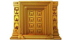 3D traditional decorative door3