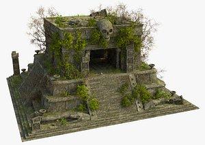 3D model aztec temple