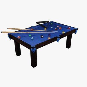 3D Mesa de Bilhar Snooker