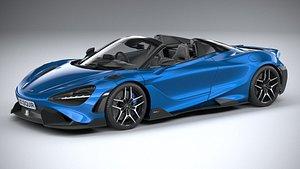3D McLaren 765LT Spider 2022 model