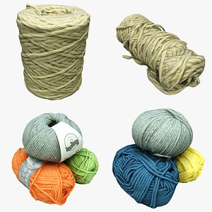 3D Yarn Collection 02 model