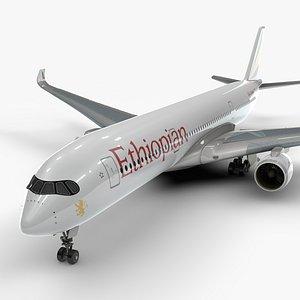 3D a350-900 ethiopian airlines l1123