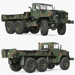 M939 Military Cargo Truck Green Rigged 3D model