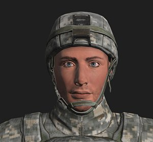 3D military generic soldier model