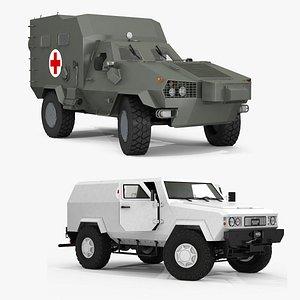 3D Ambulance Vehicle model