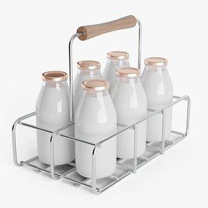 Milk Bottles Carrier 3D model