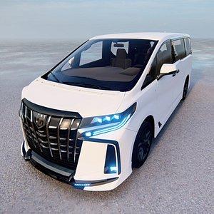 3D model 3D model 2022 Toyota Alphard TRD