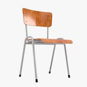 valk school chair 3D