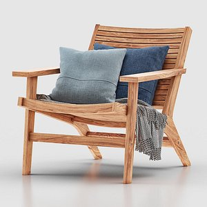 3D outdoor lounge chair