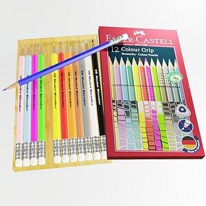 Pencil Colors 3D model
