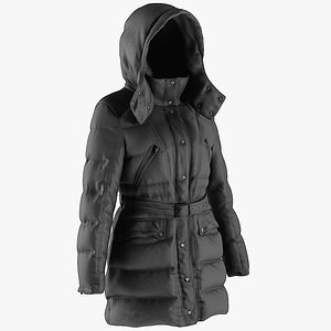 3D model coat jacket clothing
