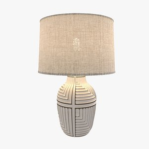 Himba Textured Abstract Table Lamp 3D model