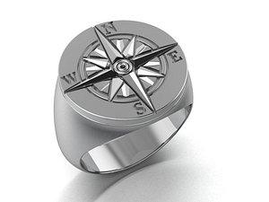 mens ring rose of wind model