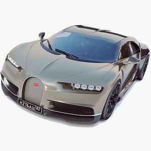 bugatti chiron full 3D model