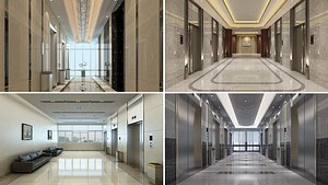 3D Elevator Lobby Collection 1