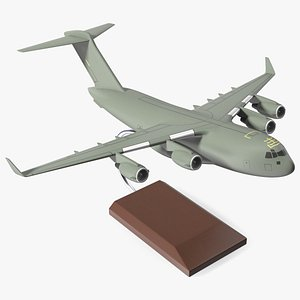 3D model Military Transport Aircraft Scale Model with Stand