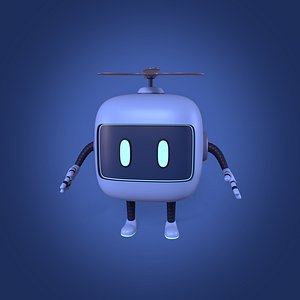 Cute Android Robot model