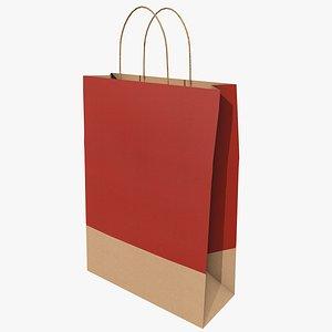 3D Paper Bag 2 With PBR 4K 8K model