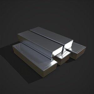 3D model Pewter Bars