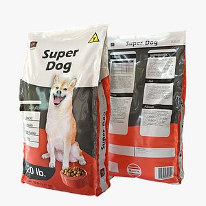 3D Dog Food Bag 01