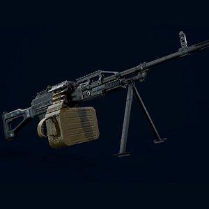 gun weapon firearm 3D model