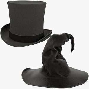 3D Halloween Hats Collection V5