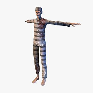 zombie prisoner undead 3D model