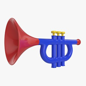 3D Trumpet Musical Instrument Toy model