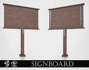 Medieval Signboard v1 model