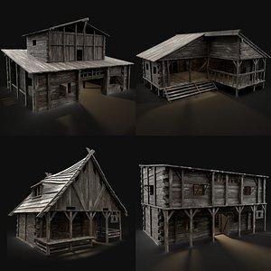 medieval industrial building 3D model