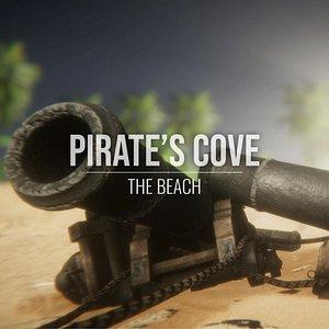 cove - beach pirates 3D model