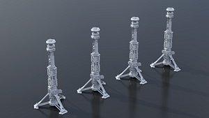 scifi tower building model