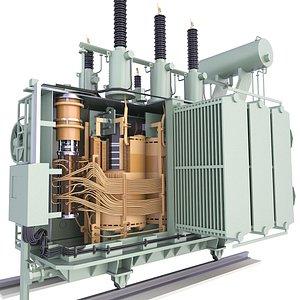 Power Distribution Transformer Low Diagram 3D Model 46 model