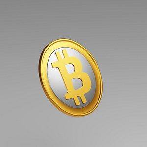 3D bitcoin coin bit model
