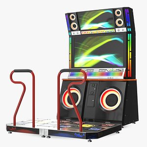 Dance Arcade Machine switched On 3D model