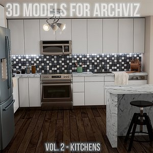 kitchen interior design 3D model
