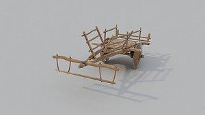 old ox cart 3D