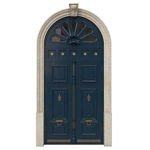 3D Entrance classic door 41 model