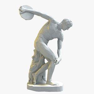 statue discobolus 3D