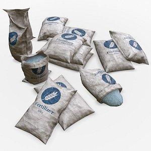 bag asset fertilizer 3D model