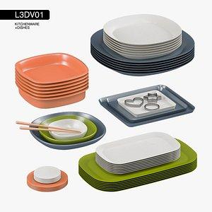 dishes kitchen set model