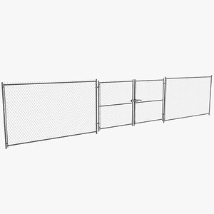 3D model Chain Link Fence