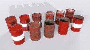 Barrel PBR Pack 1 3D model