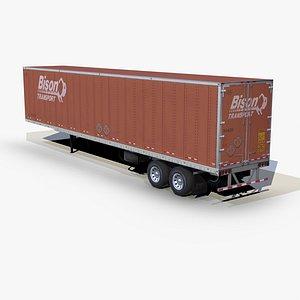 3D model dry van trailer 48ft