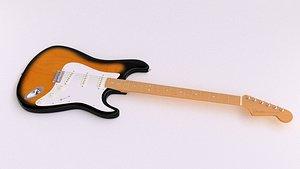 3D model retro fender stratocaster electric guitar