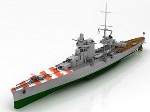 Regia Nave Pola Heavy Cruiser Ship 3D