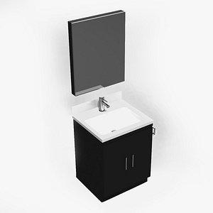 3D Compact Bathroom Vanity