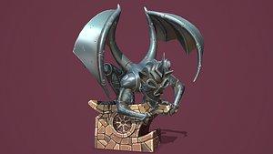 Fantasy gargoyle statue 3D