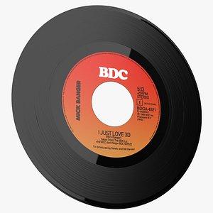 Small Vinyl 45T LP 3D model